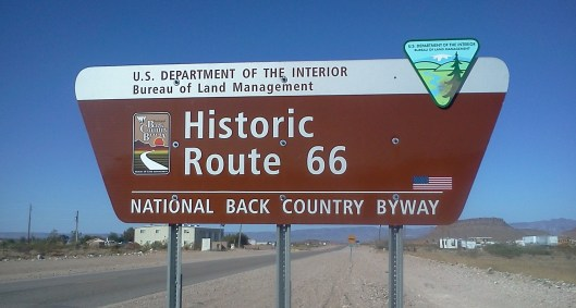 Route 66 Byway Sign