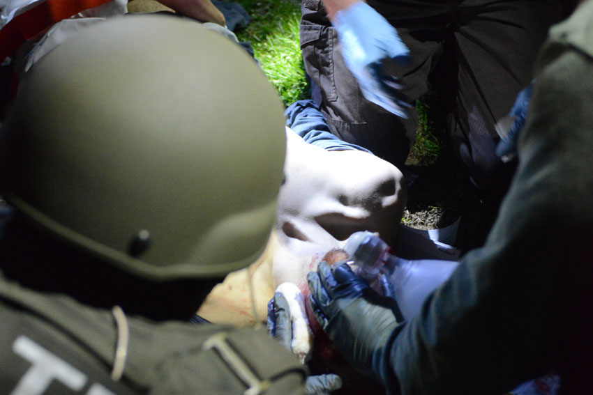 Tactical EMT attends to Tsarnaev - Sgt. Sean Murphy Massachusetts State Police