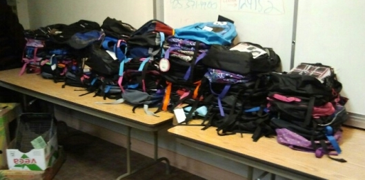 Donated Backpacks