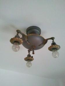 Original Light Fixture 3 Bulb