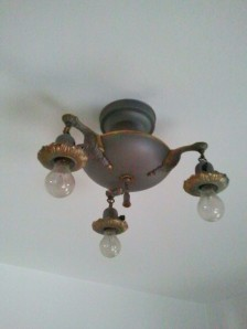 Original Light Fixture 3 Bulb